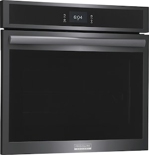 """30"""" Single Electric Wall Oven with Total Convection Black Stainless Steel GCWS3067AD"""