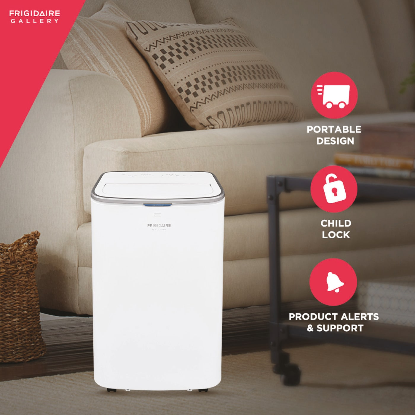 13,000 BTU Cool Connect™ Portable Air Conditioner with Wi-Fi and Dehumidifier Mode White GHPC132AB1
