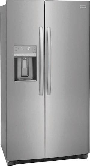 """25.6 Cu. Ft. 36"""" Standard Depth Side by Side Refrigerator Stainless Steel GRSS2652AF"""