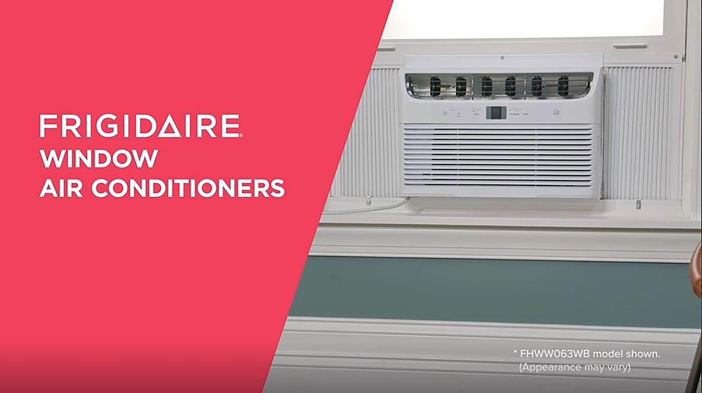6,000 BTU Connected Window-Mounted Room Air Conditioner White FHWW063WBE